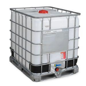 Container IBC-UN reconditionat cu palet otel 1000 litri Ø 150