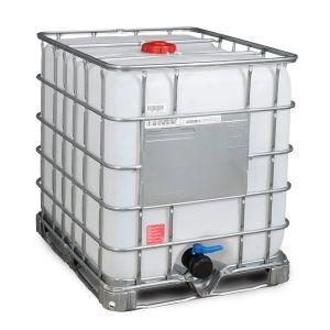 Container tip IBC-UN reconditionat cu palet otel 1000 litri Ø 150