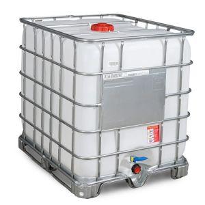 Container IBC-UN reconditionat cu palet cadru 1000 litri Ø 150
