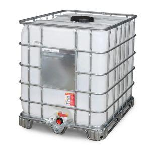 Container IBC-UN reconditionat cu palet cadru 1000 litri Ø 225