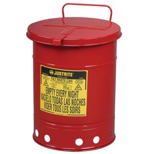Recipient antifoc colectare lavete uleioase rosu 38 litri fara pedala