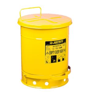 Recipient antifoc colectare lavete uleioase galben 38 litri
