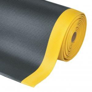 Covor antioboseala Crossrib Sof-Tred Black-Yellow