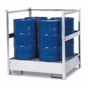 Statie de substante periculoase 4 P2-R-V50 din otel zincat cu bara de protectie, stivuibil