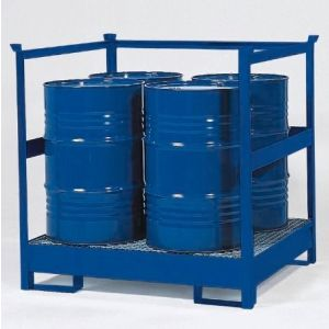 Statie de substante periculoase 4 P2-R-V50 din otel vopsit cu bara de protectie stivuibil