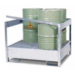 Statie de substante periculoase 4 P2-P-V50 din otel zincat cu bara de protectie