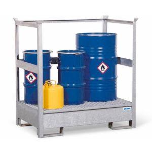 Statie de substante periculoase 2 P2-R din otel zincat cu bara de protectie