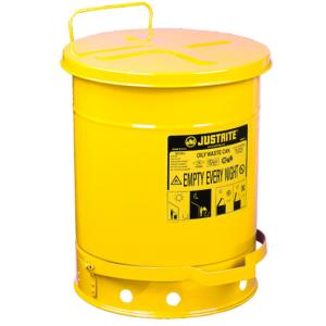 Recipient antifoc colectare lavete uleioase galben 53 litri