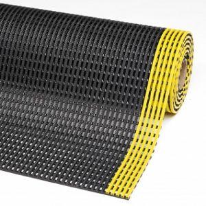 Covor antioboseala Flexdek Black-Yellow
