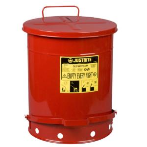 Recipient antifoc colectare lavete uleioase rosu 53 litri