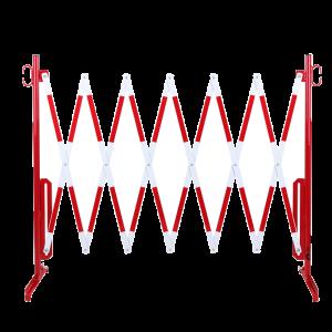 Gard protectie flexibil alb/rosu 3600x1050mm