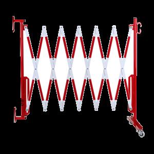 Gard protectie flexibil roti si fixare in perete alb/rosu 3600mm