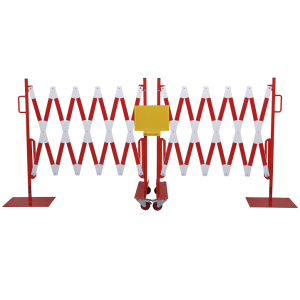 Gard protectie flexibil alb/rosu 2x2000x1050mm