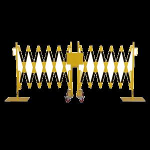 Gard protectie flexibil galben/negru 2x2000x1050mm