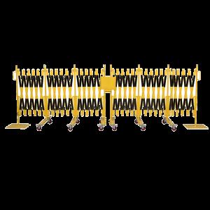 Gard protectie flexibil galben/negru 2x9300x1050mm