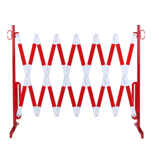 Gard protectie flexibil alb/rosu 4000x1050mm