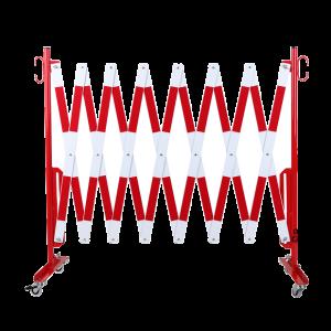 Gard protectie flexibil alb/rosu cu roti 4000x1050mm