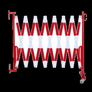 Gard protectie flexibil roti si fixare in perete alb/rosu 4000mm