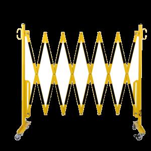 Gard protectie flexibil galben/negru cu roti 3600x1050mm