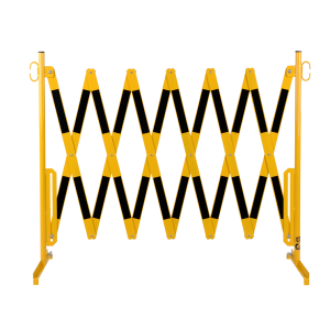 Gard protectie flexibil galben/negru 4000x1050mm