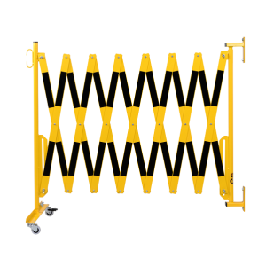 Gard protectie flexibil roti si fixare in perete galben/negru 4000mm