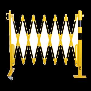 Gard protectie flexibil roti si stalp fixare podea galben/negru 3600mm