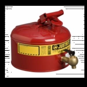 Recipient de siguranta rosu cu robinet laborator 9 litri