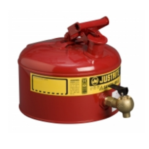 Recipient de siguranta rosu cu robinet laborator 19 litri