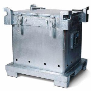 Container ASP de colectare, transport doze goale de spray V=800 litrii