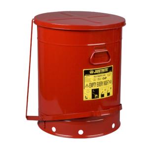 Recipient antifoc colectare lavete uleioase rosu 80 litri