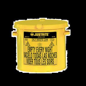 Recipient antifoc colectare lavete uleioase galben 8 litri