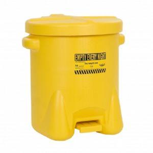 Recipient PE antifoc colectare lavete uleioase 53litri