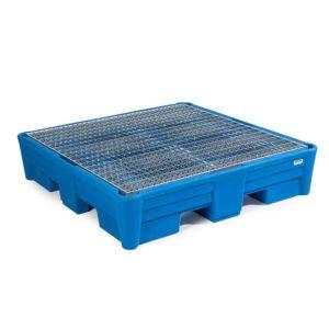 Vana retentie PolySafe PSP 2.4 polietilena albastru cu grilaj zincat