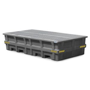 Statie IBC Pro-Line din PE, grilaj zincat