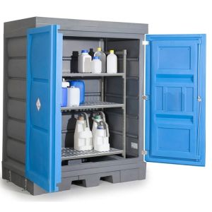 Dulap depozitare acizi si baze pentru recipiente mici