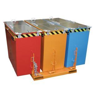 Recipient basculabil otel tip TRIO 3x600 litri