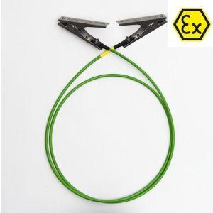 Cablu de impamantare cu 2 clest1, 2m