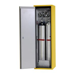 Dulap antifoc 2 butelii gaz 50l, G90.6-2F, L=600mm, galben