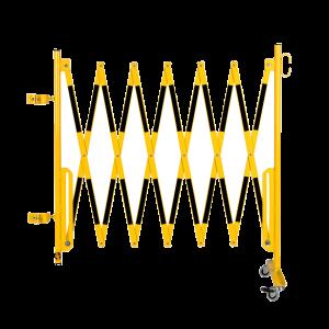 Kit gard flexibil 3600 mm galben/negru pentru stalp 70x70mm