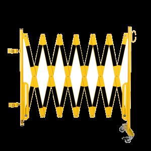 Kit gard flexibil 4000 mm galben/negru pentru stalp 70x70mm