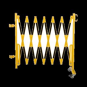 Kit gard flexibil 3600 mm galben/negru pentru stalp Ø60mm