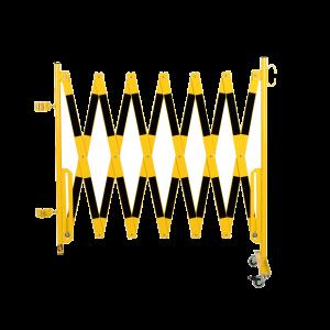 Kit gard flexibil 4000 mm galben/negru pentru stalp Ø60mm