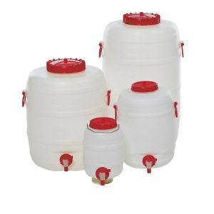 Butoi HDPE cu robinet, 125 l
