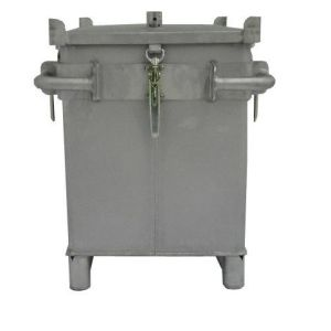 Container inox transport baterii litiu, S-Box X1