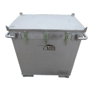 Container inox transport baterii litiu, M-Box X2
