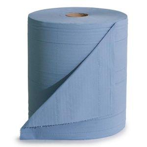 Laveta de curatare robusta, la rola, albastru