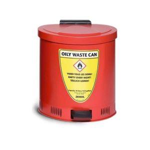 Recipient antifoc colectare lavete uleioase rosu 20 litri