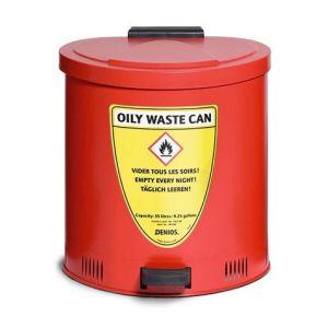 Recipient antifoc colectare lavete uleioase rosu 65 litri