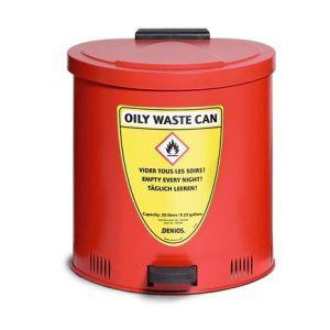 Recipient antifoc colectare lavete uleioase rosu 35 litri