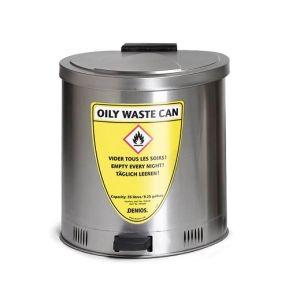 Recipient antifoc colectare lavete uleioase inox 20 litri